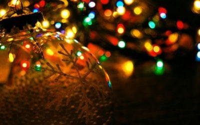 Luci delle feste di Natale al Ristorante Solferino